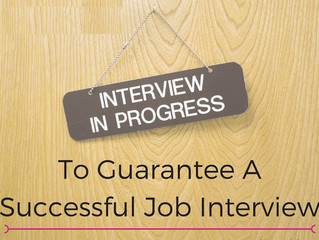 Being Successful at Interviews Part 8
