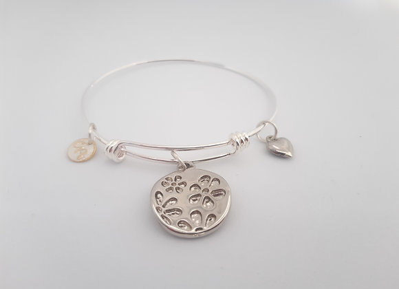 Flower Circle Bangle Bracelet - Bracelet cercle fleur