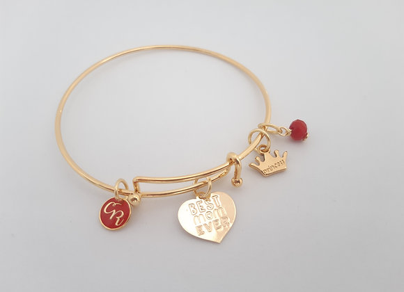 'Best Mom Ever' Bangle Bracelet - Bracelet 'Meilleure Maman'