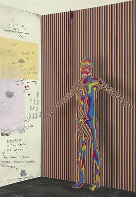 """Self-Portrait"" inkjet, etching, and screenprint on paper, 21.25"" x 14.5"""