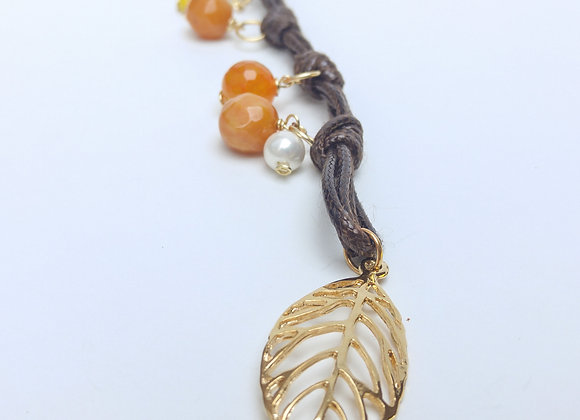 Bohemian Necklace Leaf- Collier Feuille