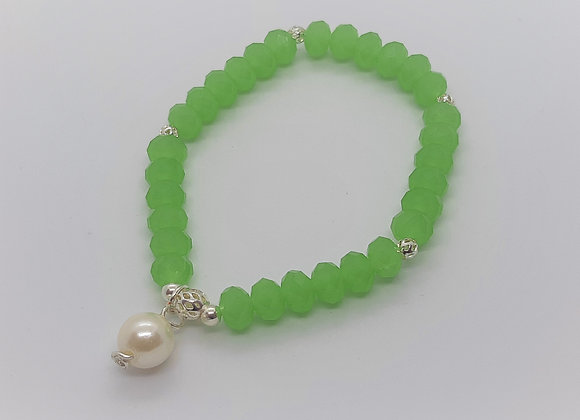 Handmade Bracelet with Murano Crystals and Pearl
