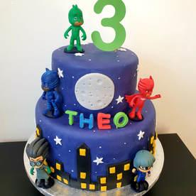2 Tier PJ Masks Cake