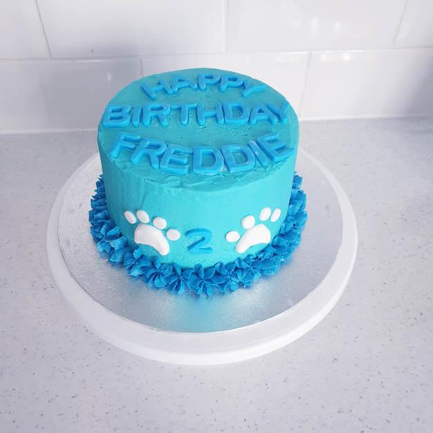 Pet themed birthday cake