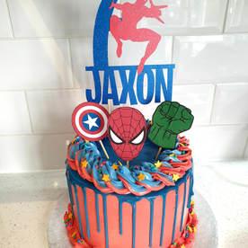 Spiderman Drip Cake