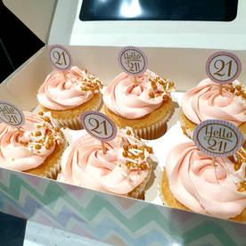 Milestone Birthday Cupcakes