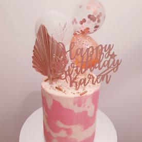 Rose Gold Balloon Cake