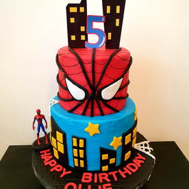 2 Tier Spiderman Cake