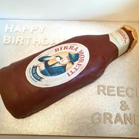 Moretti Themed Birthday Cake