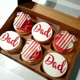 Football Team Themed Cupcakes