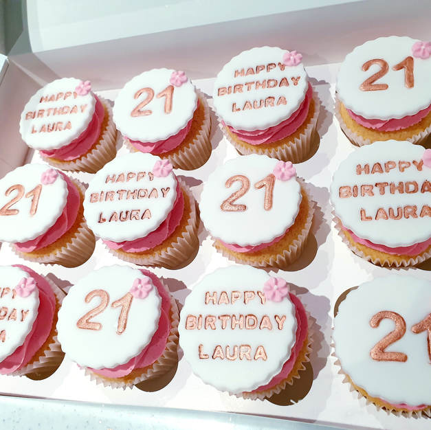 Happy 21st Birthday Cupcakes