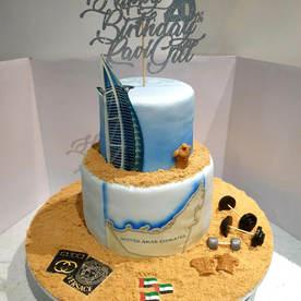 Dubai Themed Birthday Cake