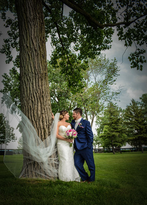 Couple by Gigantic Cottonwoods, Grosse Pointe