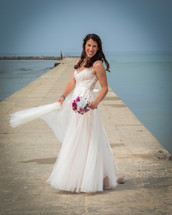 Amazing shot of this Bride, Frankfort, MI