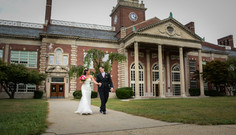 Bride and Groom at their High School, Grosse Pointe