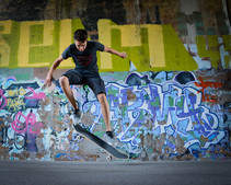 Skateboarding the Dequindre Cut