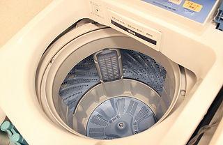 空の洗濯機