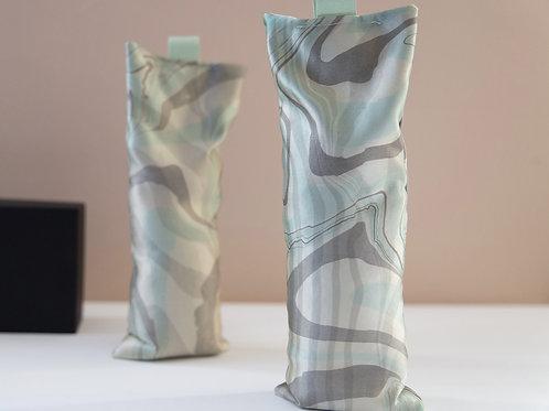 Suminagashi Silk Eye Pillow | Seaglass on Satin Silk