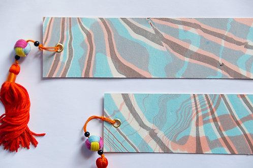 Suminagashi Bookmark | Candy Cane