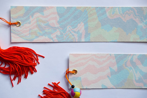 Suminagashi Bookmark | Rippling Tide