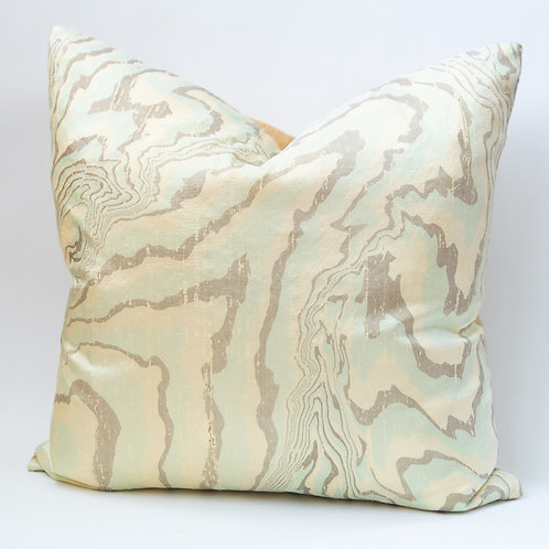Suminagashi Silk Pillow