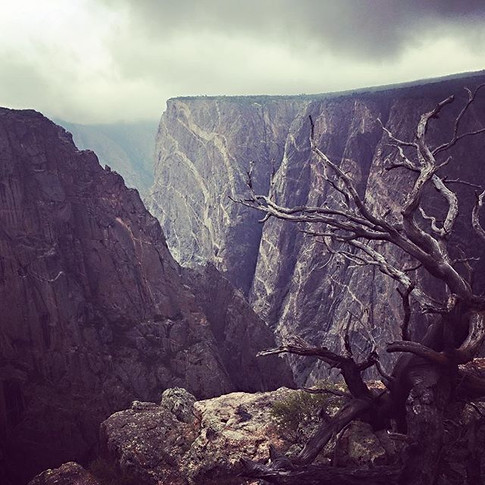 Black Canyon in Storm