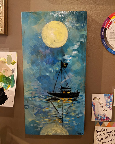 Moonlit Sailboat