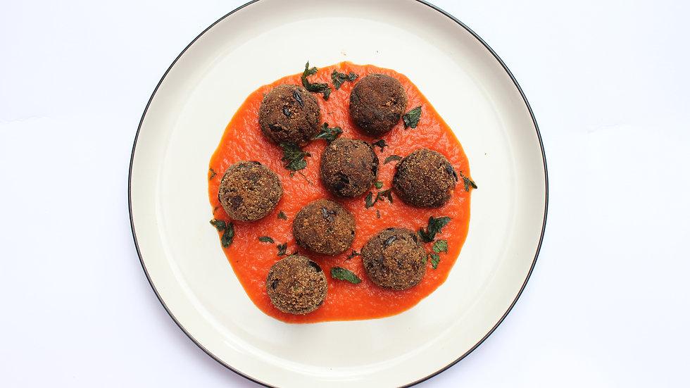 Polpette di Melanzane / Calabrian Aubergine Balls, 2 portions