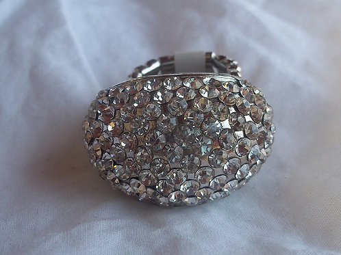 Rhinestone Dome Expandable Ring