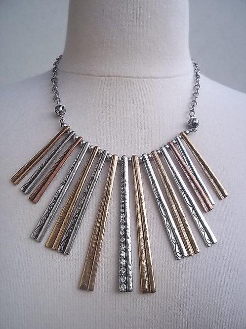 Mixed Metal Aztec Collar