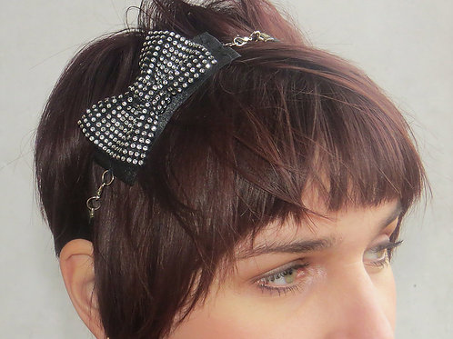 Rhinestone Bow Accents Multi-wear