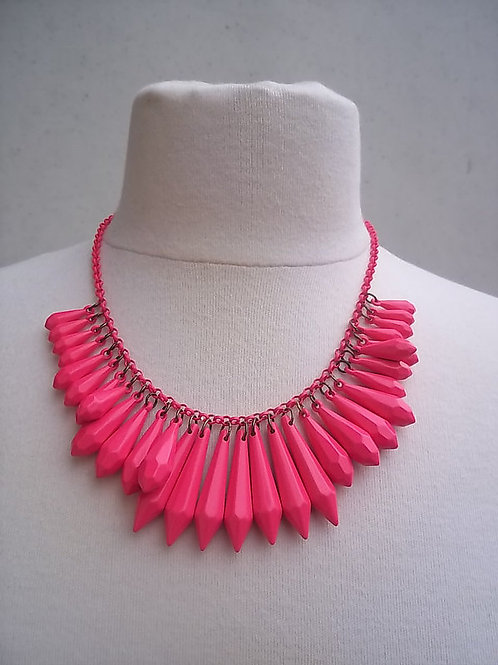 Neon Pink Faceted