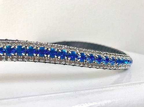 Capri blue bling crystal horse browband Elegant Equines