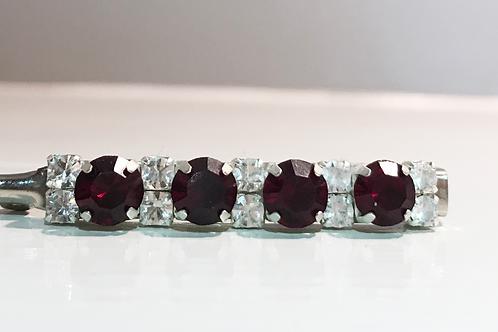 Garnet crystal bling stock pin