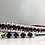 Garnet and crystal bling horse browband Elegant Equines diamante browband