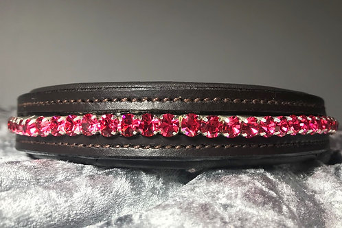 Pink Bling Crystal Diamante Dog Collar