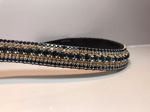 Montana Blue and Topaz Bling Crystal Browband diamante