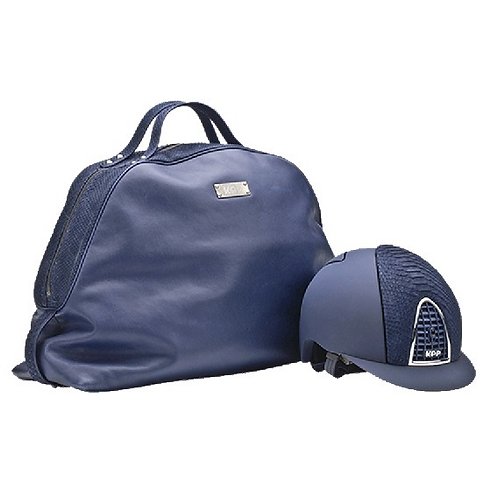 KEP - Calfskin Bag Python Blue