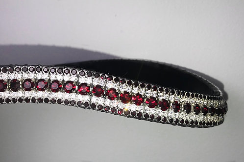 red garnet and crystal horse browband bling diamante