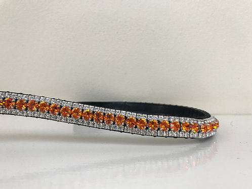 Sun orange bling crystal browband Elegant Equines Preciosa diamante