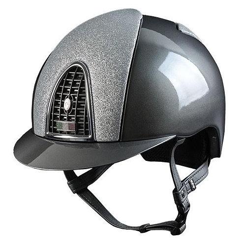 KEP - Cromo Metal Grey Star Silver Equestrian riding hat