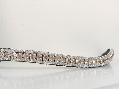 Crystal honey and crystal bling horse browband Elegant Equines diamante browband