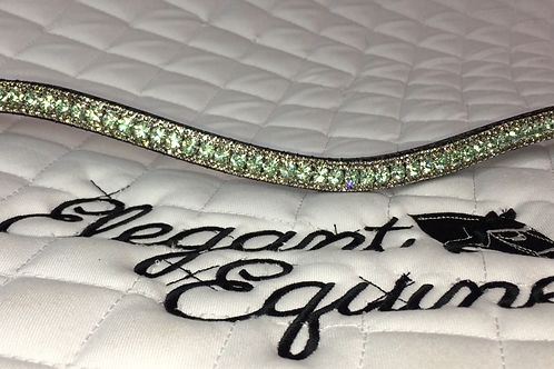 Bling crystal horse browband Elegant Equines diamante chrysolite and crystal velvet