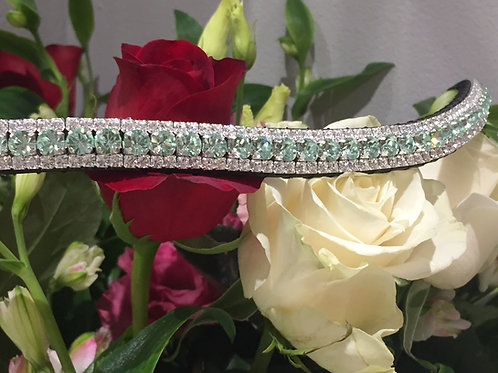 Crysolite and Crystal bling horse browband