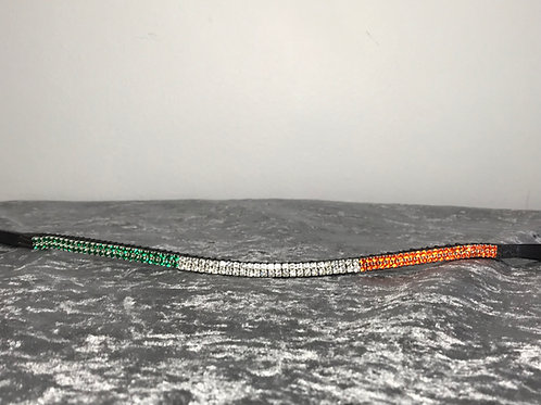 Irish Tricolour flag bling crystal horse browband St Patricks Day Elegant Equines