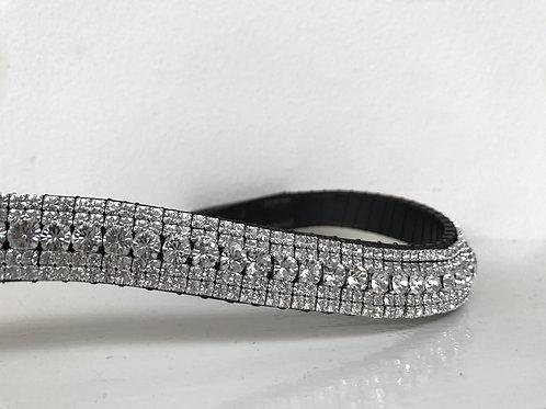 Clear bling crystal browband diamante ultimate bling Preciosa