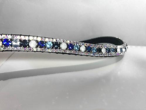 Bling blue Crystal Horse Browband Elegant Equines diamante preciosa