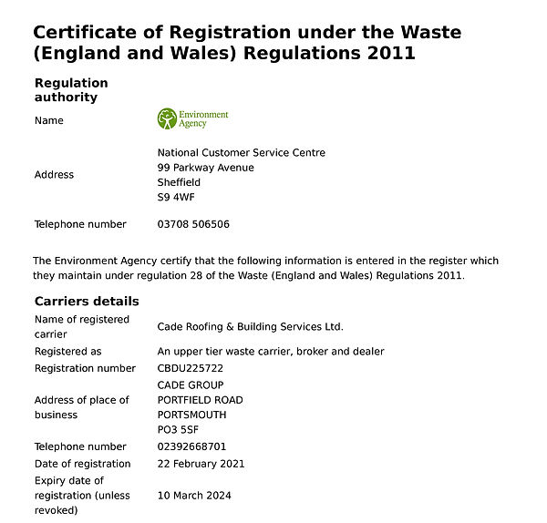 WasteCarrierRegistrationCertificate- To