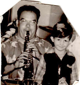 Dad on Sax with Me