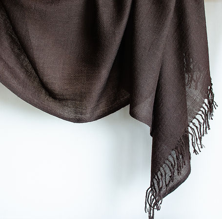 handwoven yak wool shawl
